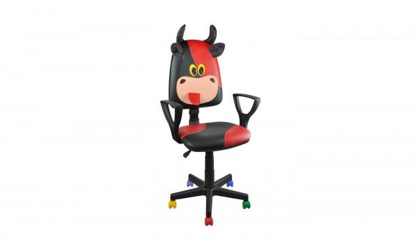 Детски стол Animal Бик - червен/черен